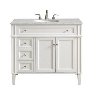 40 in. Single Bathroom Vanity set in White