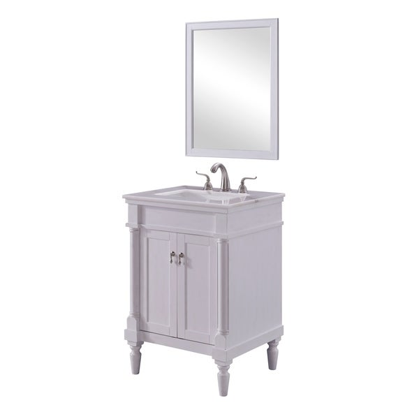 Single Bathroom Vanity Set In Antique White