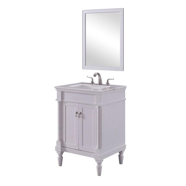 Vintage Bathroom Vanity Set: Shop 24 In. Single Bathroom Vanity Set In Antique White