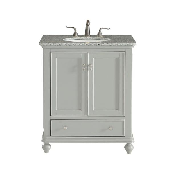 Light Grey 30 Inch Single Bathroom Vanity Set