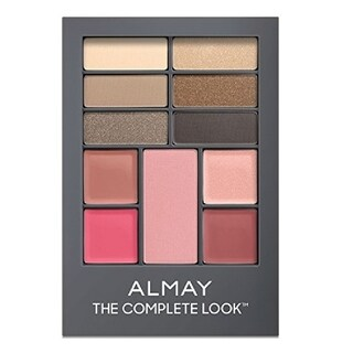 Almay The Complete Look Palette, Makeup for Eyes, Lips and Cheeks #100 Light/Medium Skin Tones