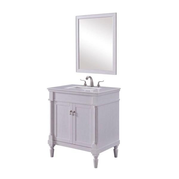 Vintage Bathroom Vanity Set: Shop 30 In. Single Bathroom Vanity Set In Antique White