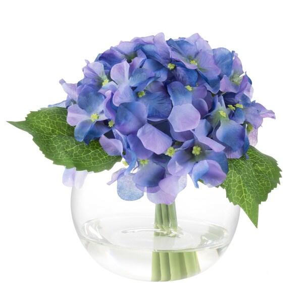 Hydrangea artificial floral arrangement pure garden purple hydrangea artificial floral arrangement pure garden purple mightylinksfo