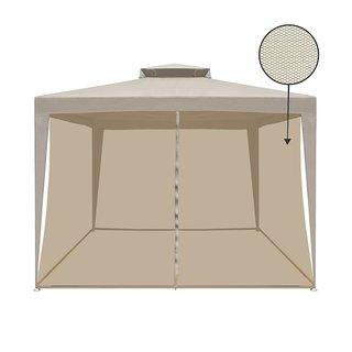 ALEKO Double Roof 10'X10' Patio Picnic Shade Gazebo with Mesh Netting