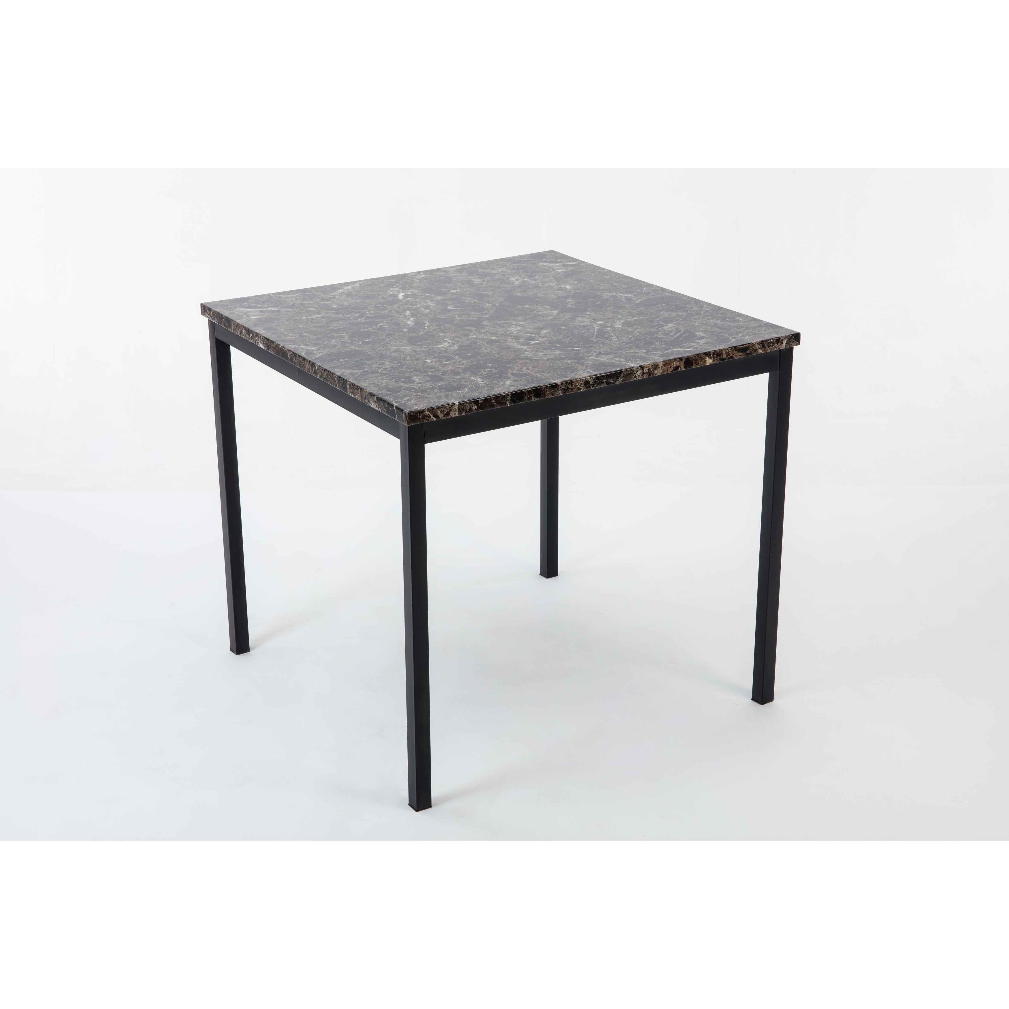 Arjen Black Metal Faux Marble Counter-height Dining Room ...