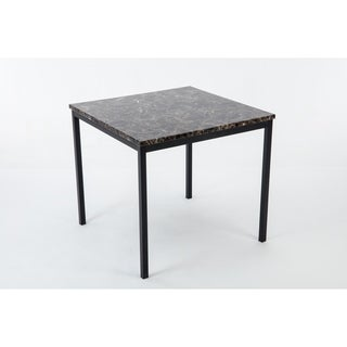 Arjen Metal Faux MarbleCounter Height Dining Room Table