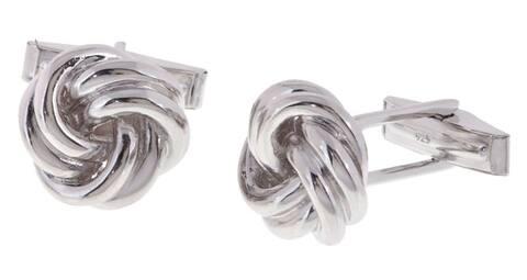 Mondevio Sterling Silver Love Knot Cuff Links