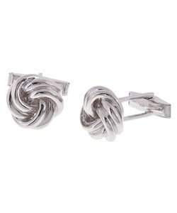 Mondevio Sterling Silver Love Knot Cuff Links