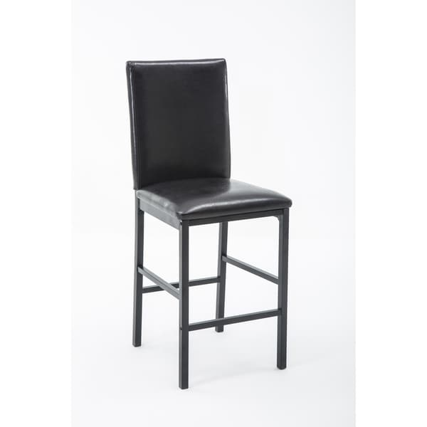 Shop Arjen Black Faux Leather Upholstered Counter Height