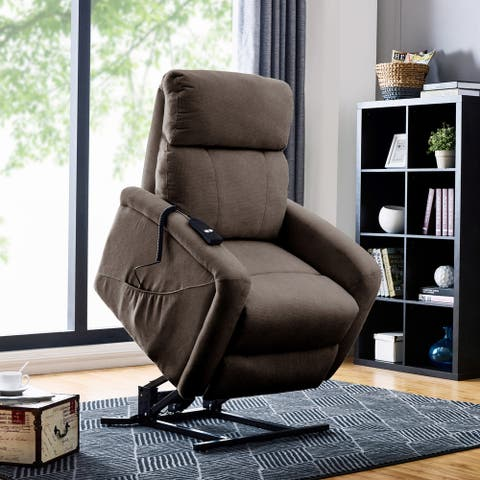 Copper Grove Jessie Brown Chenille Power Recline and Lift Chair