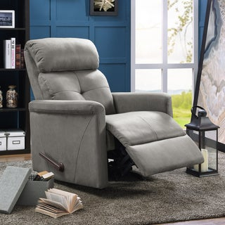 ProLounger Grey Nubuck Rocker Recliner Chair