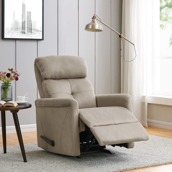 Copper Grove Stone Nubuck Rocker Recliner Chair