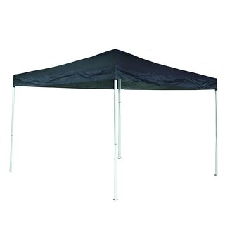 ALEKO 10x13 ft Blue Iron Foldable Outdoor Picnic Party Gazebo Canopy