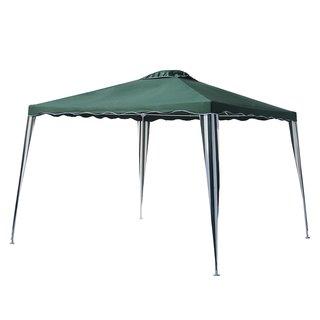 ALEKO 10x10 Green Iron Foldable Outdoor Picnic Party Gazebo Canopy