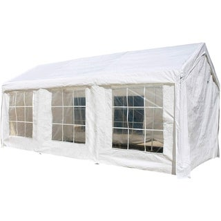 ALEKO 10x20 feet Outdoor White Gazebo Canopy Tent with Sidewalls