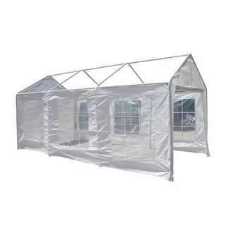 ALEKO Caravan Canopy Sidewalls White Walls 10X20 Carport Gazebo