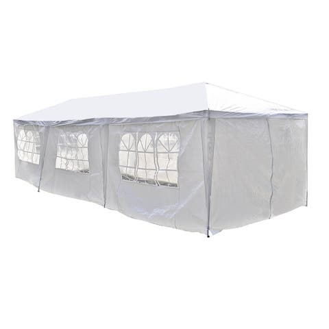 ALEKO 30 x 10 feet Carport Storage Garage Party Tent with Windows