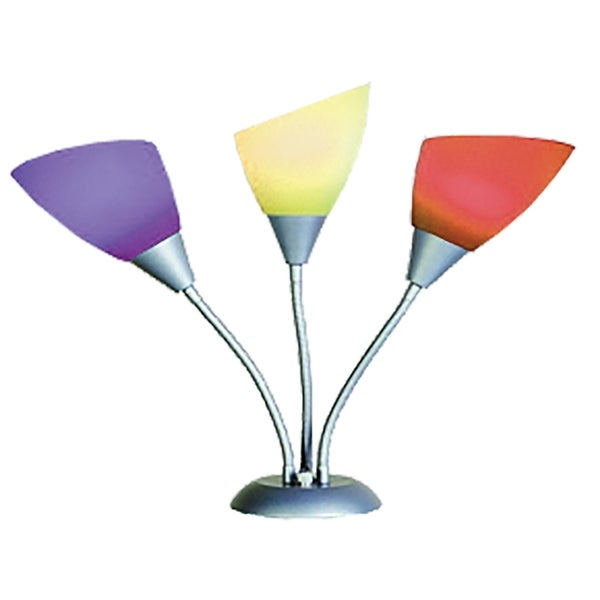 Home Source Eagle Multicolored Desk Lamp, Chrome Adjustable Base