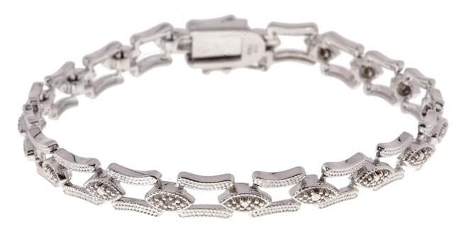 DB Designs Sterling Silver Diamond-accent Bracelet