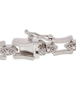 DB Designs Sterling Silver Diamond-accent Bracelet - Thumbnail 1