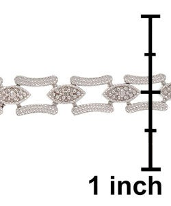 DB Designs Sterling Silver Diamond-accent Bracelet - Thumbnail 2