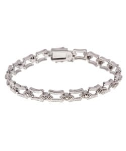 DB Designs Sterling Silver Diamond-accent Bracelet
