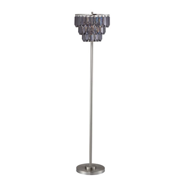 Home Source Kiera Floor Lamp with Removable Chandalier Lamp Shade