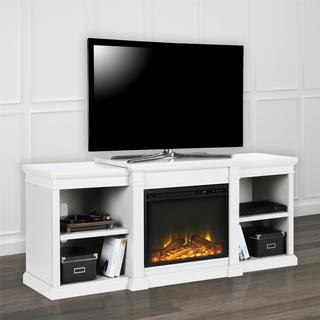 real flame fresno white entertainment center electric fireplace free shipping today. Black Bedroom Furniture Sets. Home Design Ideas
