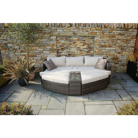 Marrakesh Outdoor 4-piece Brown Wicker Daybed Set by Direct Wicker