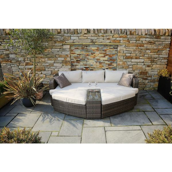 Marrakesh Outdoor 4-piece Brown Wicker Daybed Set by Direct Wicker. Opens flyout.
