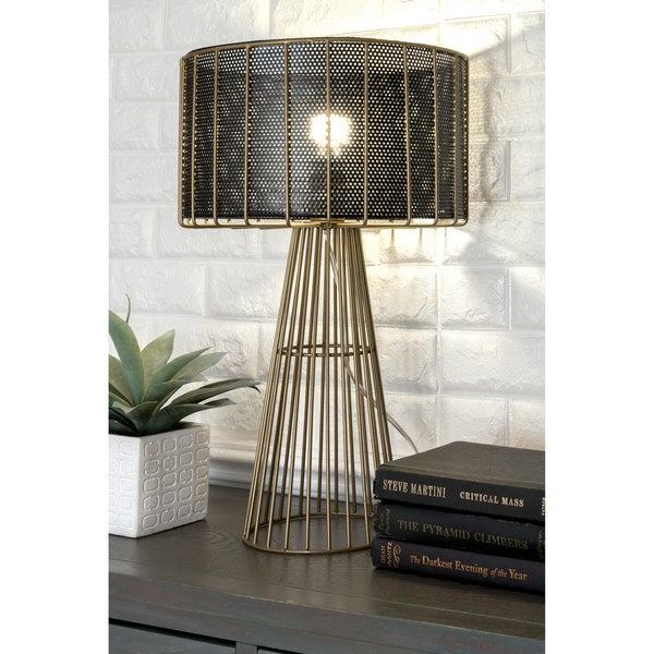 Watch Hill 21'' Scarlett Gold Wired Iron Table Lamp