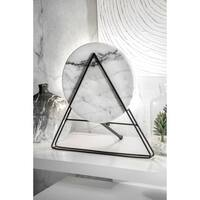 Watch Hill 17'' Lily Iron & Marble Table Lamp