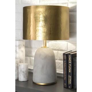 Watch Hill 25'' Natalie Concrete & Iron Aluminium Shade Table Lamp
