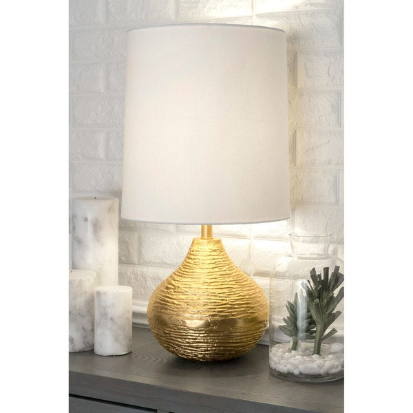 Watch Hill 27'' Aluminum Cotton Shade Table Lamp
