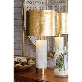 Watch Hill 23'' Alexa Marble & Iron Aluminium Shade Table Lamp