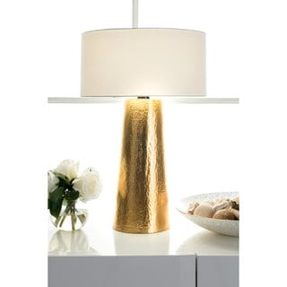 Watch Hill 21'' Layla Aluminum Cotton Shade Table Lamp, White