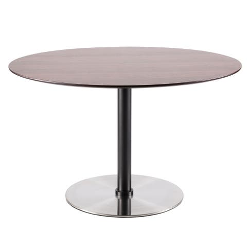 Copper Grove Ahlen Walnut Round Dining Table
