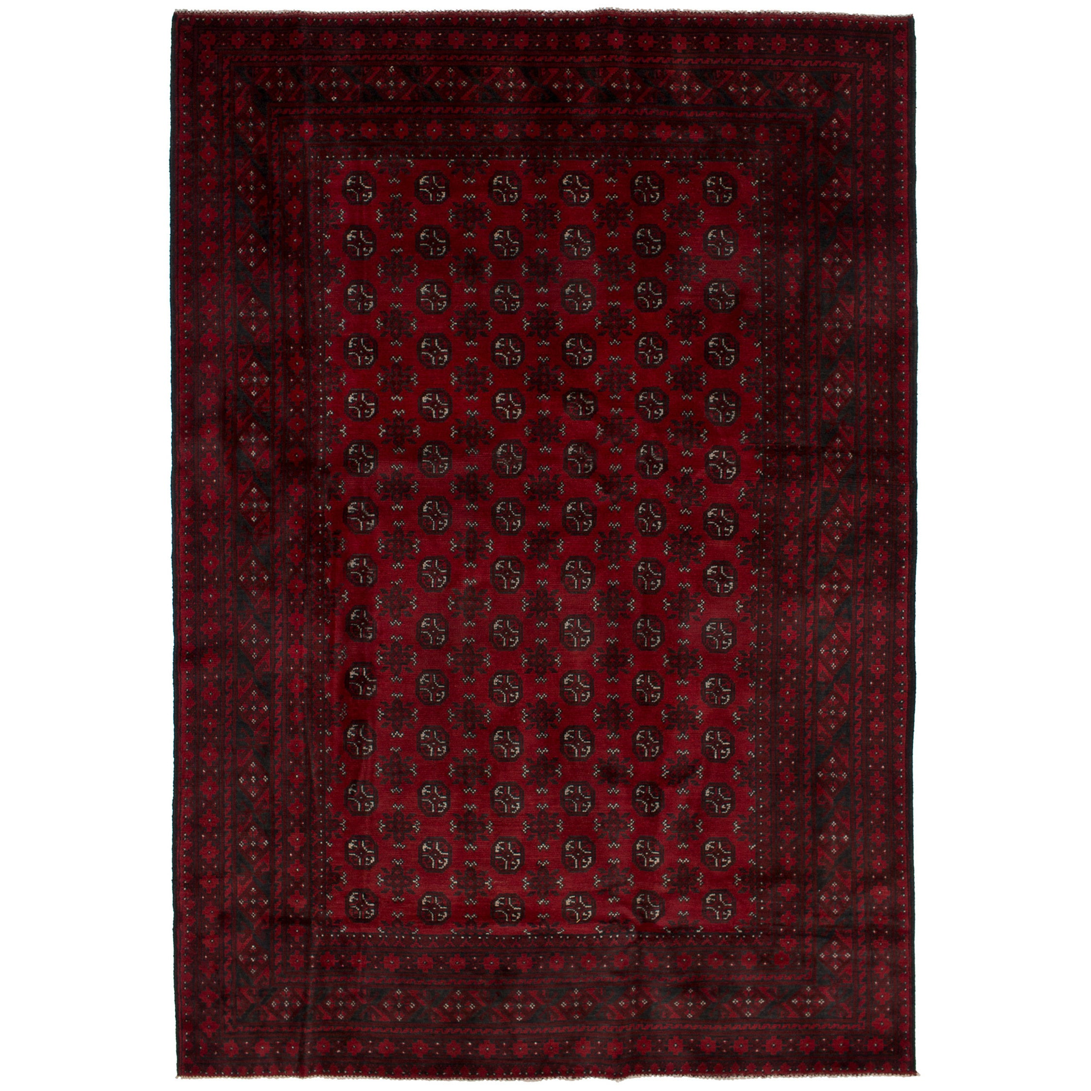 Ecarpetgallery Hand-Knotted Khal Mohammadi Red Wool Rug (...