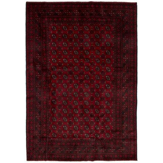 eCarpetGallery Hand-Knotted Khal Mohammadi Red Wool Rug (6'4 x 9'4)
