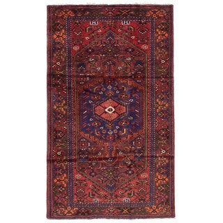 eCarpetGallery Hand-Knotted Hamadan Red Wool Rug (4'4 x 7'5)