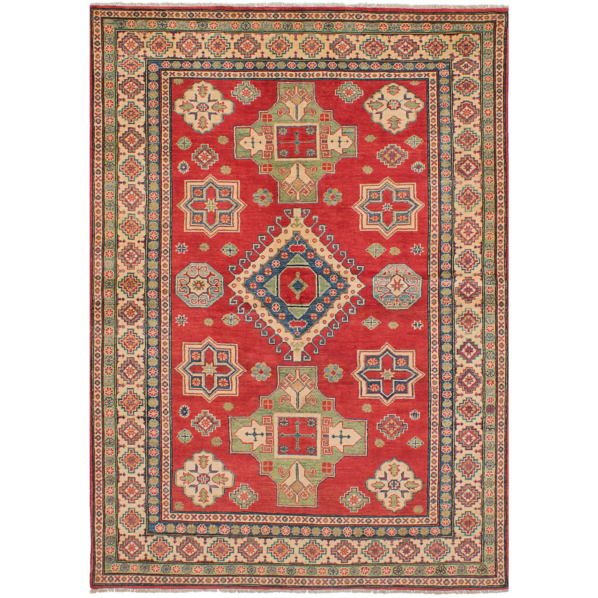 Ecarpetgallery Hand-Knotted Finest Gazni Red Wool Rug (6'...