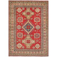 eCarpetGallery Hand-Knotted Finest Gazni Red  Wool Rug (6'0 x 8'8)