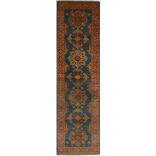 eCarpetGallery Hand-Knotted Finest Gazni Blue Wool Rug (2'7 x 10'1)