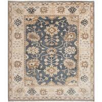 eCarpetGallery Hand-Knotted Royal Ushak Grey  Wool Rug (8'2 x 9'9)