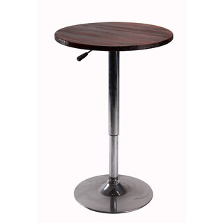 Vogue Furniture Direct Height Adjustable Bar Table, Wood