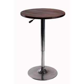 Vogue Furniture Direct Height Adjustable Bar Table, Wood
