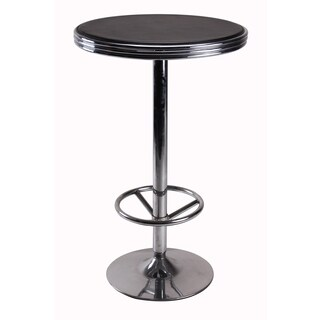 Vogue Furniture Direct Bar Table with foot rest, Black