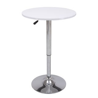 Vogue Furniture Direct Height Adjustable Bar Table, White