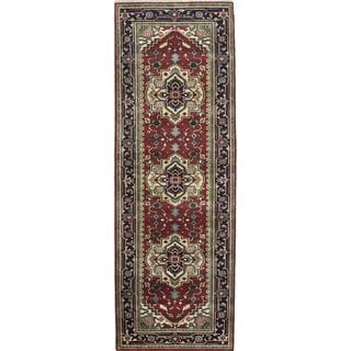 eCarpetGallery Hand-Knotted Serapi Heritage Red, Yellow  Wool Rug (3'1 x 9'9)