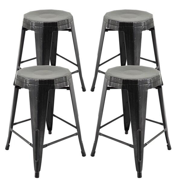 Shop Furniture Direct: Shop Vogue Furniture Direct Metals 24-inch Backless Fully